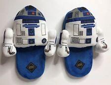 Mens Disney Star Wars R2D2 Plush Character Slide Slippers Size Large 10/11