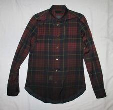 Alexander McQueen men's Spring 2010 ombre dip dye tartan plaid buttondown shirt