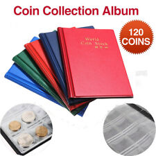 120 Coin Holder Collection Storage Collecting Money Penny Pockets Album Book
