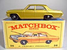 Matchbox RW 36C Opel Diplomat goldmetallic rarer grauer Motor perfekt in Box