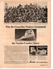 1964 Green Bay Packers Starr Hornung Adderly Nitschke Norelco  Vintage Print Ad