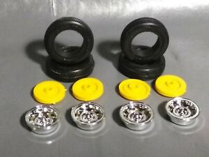Lincoln,Chevy,Ford,Plymouth,ETC..Hub Caps//Wheels 1:24//1:25 MODEL CAR PARTS 5 Lot