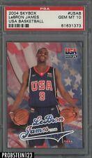 2004 Skybox USA Basketball Lebron James PSA 10 GEM MINT