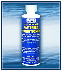 1,2,3 Lg Bottles of  (8 OZ) PREMIUM BLUE MAGIC ALL PURPOSE WATERBED CONDITIONER.