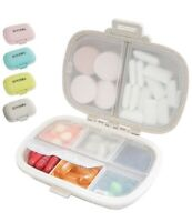 SYOSIN Portable Pill Organizer, 8 Compartments Travel Pill Organizer