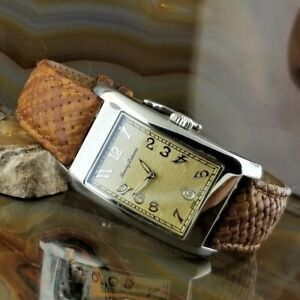 Mens TOMMY BAHAMA Silver Cruise Woven Leather Band TB1026 Curvex Style Case