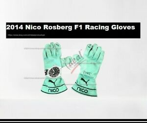 2014 Nico Rosberg Go Kart Gloves F1 Race Gloves Karting Gloves Nico Gloves