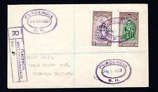 British Honduras 'PLACENCIA' registered Roger Wells cover (C5)