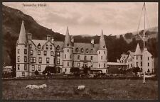 Stirling - Trossachs Hotel with Horse Carriages - Vintage Photo Postcard