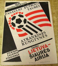 Lithuania World Cup Home Teams L-N Football Programmes