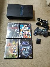 PlayStation 2 PS2 Console With Power Cord, Memory Card, Controller and Games