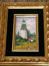 FRAMED AND SIGNED LIGHTHOUSE PAINTING IN EXCELLENT CONDITION