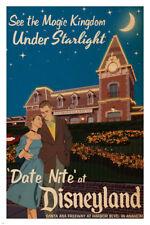 date night AT DISNEYLAND vintage poster 24X36 MAGIC KINGDOM by starlight HOT