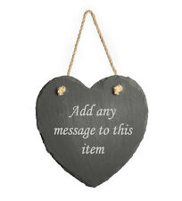 Personalised Engraved Hanging Heart Slate, Any Message, Gift For Anniversary
