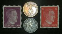 Rare WW2 German Coins & Unused Stamps World War 2 Authentic Artifacts