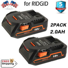 2- FOR RIDGID RIGID 18V HYPER LITHIUM-ION R840085 R840087 R840086 BATTERY PACKS