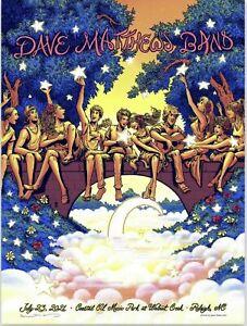 Dave Matthews Band Poster 2021 Raleigh NC 7.23.21 DMB Flames