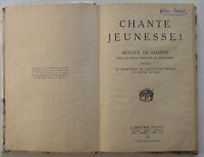 Recueil de Chants pour école primaire 1941 Instruction Publique canton de Vaud