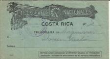 Costa Rica Illustrated TELEGRAM Envelope Purple habdstamp Oficina Telegrafica de