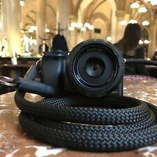 Camera Strap schwarz 120 cm - Kamera Seil Kameraband Tragegurt für DSLR