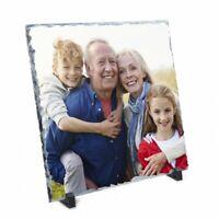 "Rock Slate ""Printed Photo Slate"" Personalised Gift Slate Display Picture + Stand"