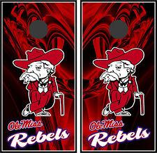 Ole Miss Rebels Colonel 0103 custom cornhole board vinyl wraps stickers posters