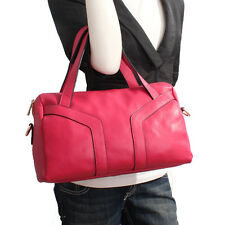 Rose Red Italian Leather Handbag, Purse Hobo Bag, Satchel, Tote, Clutch