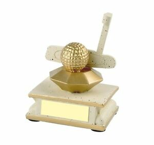 11cm Sandstone Finish Putter Trophy Great Trophy Nearest the pin Free Engraving