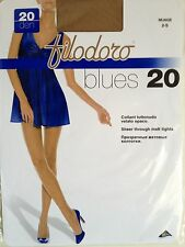 5 COLLANT FILODORO TUTTONUDO VELATO OPACO BLUES 20DEN NUAGE TAGLIA 2 SMALL SHEER