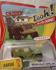 2009 Disney Pixar Cars Look! My Eyes Change! #30 Sarge Army Jeep ✿Lenticular