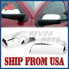 US Chrome Top Half Mirror Covers Caps For 14-17 Silverado/Sierra 1500 2500HD FM