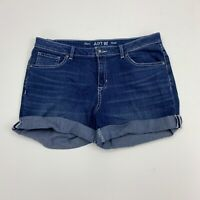 Apt 9 Jean Shorts Womens Size 14 Blue Cuffed Short Embroidered Jewels