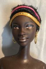 PRINCESS OF SOUTH AFRICA AA African Afro Mbili Face Barbie Doll of World Nude
