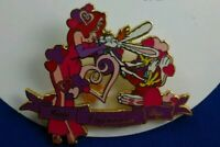Disney Auctions PINS Happy Valentine's Day ROGER & JESSICA Rabbit LE Pin