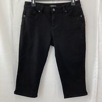 D Jeans Women's Black Denim Bermuda Shorts Size 8