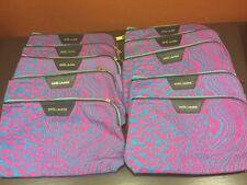 Lot of 10-Estee Lauder Quentin Jones Cosmetics Makeup Travel Bags-Blue/Pink