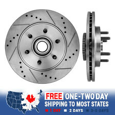 Front Drill Slot Brake Rotors For Ford F150 Mark LT 2WD 2004 - 2007 2008 6 Lug