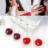Girls Cherry Fruit Earrings Tassel Drop Earring Sweet Long Pendant Jewelry Sweet