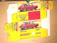 REPLIQUE BOITE SIMCA 1100  DINKY TOYS 1969