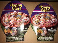 Rare Vintage Happy Eggs Instant Egg Decorations 48 Total