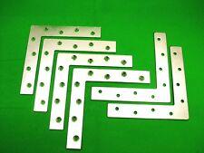 Corner plate flat corner brace fixing L bracket,152x152mm, pack of 6 zinc plated