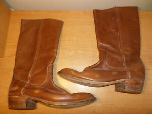 Frye Men's Size 12 Western Cowboy Boots Brown Leather - Fast Shipping