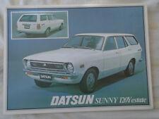 Datsun Sunny 120Y Estate brochure 1977