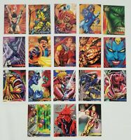 1995 Flair Marvel Annual 18 Card Lot Elektra, Thing, Mystique, Iron Man Ect..