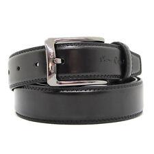 Cintura Uomo Pierre Cardin in vera Pelle Color Nero 125cm