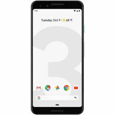 Unlocked GOOGLE PIXEL 3 Clearly White 'Used Condition' 64GB G013A With Warranty