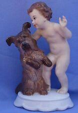 "1930 Rosenthal Skye Silky Papillon Yorkshire Terrier Briard Dog/Boy 6"" Germany"
