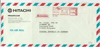 Japan 1985 machine cancel air mail stamps cover ref 21568