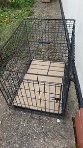 Large Dog puppy Cage metal folded