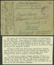 Russia/Army Northwest 1917 card/German POW Murmansk